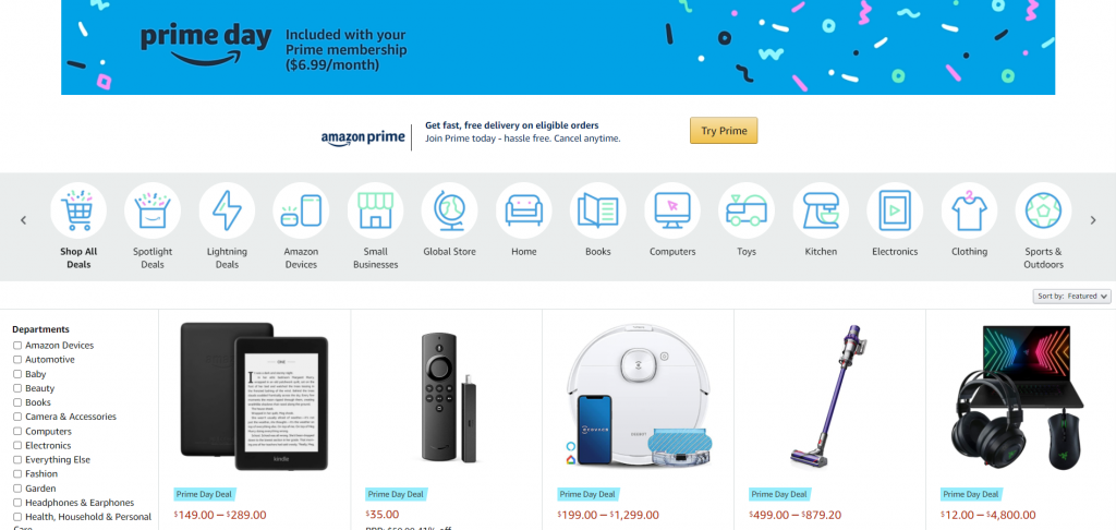 Sales Coupons Deal Amazon Prime Day 2021 conetnt