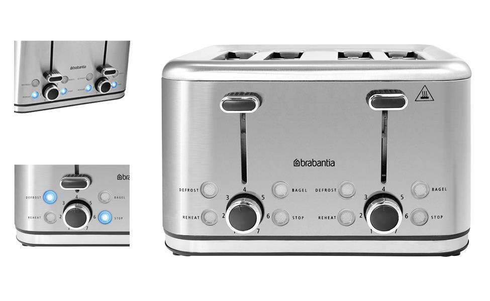 Brabantia Electrical Toaster 4 Slice