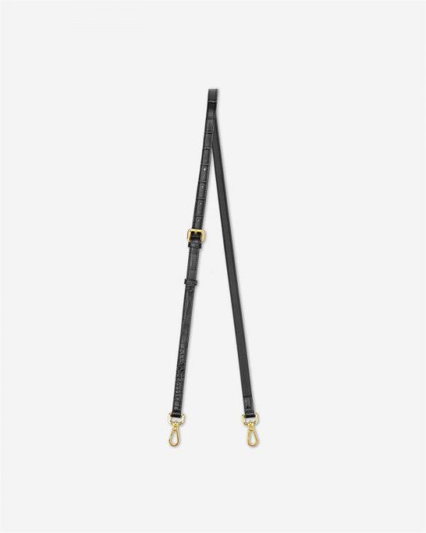 JW PEI - Copy of Strap for Mini Flap - Black Croc - Apparel & Accessories > Handbags