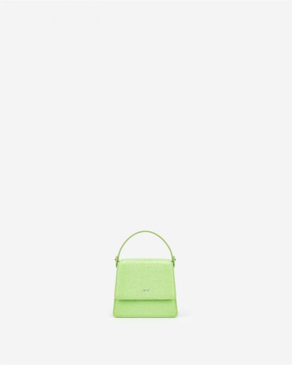 JW PEI - Fae Mini Top Handle Bag - Lime Green Lizard - Fashion Women Vegan Bag - Apparel & Accessories > Handbags
