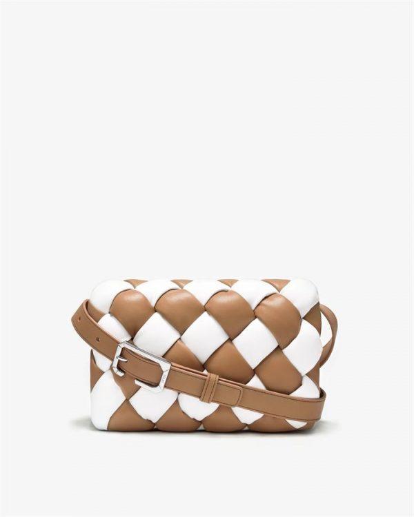 JW PEI - Maze Bag - White & Tan - Fashion Bag - Apparel & Accessories > Handbags