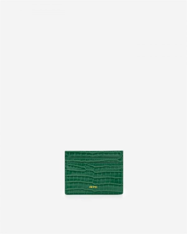 JW PEI - The Card Holder - Green Croc - Apparel & Accessories > Handbags
