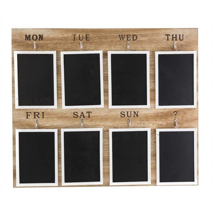8 Days Wooden Memo Blackboard