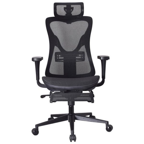 LivingStyles.com.au - Atley Mesh Fabric Ergonomic Executive Office Chair with Telescopic Footrest - Office Chairs