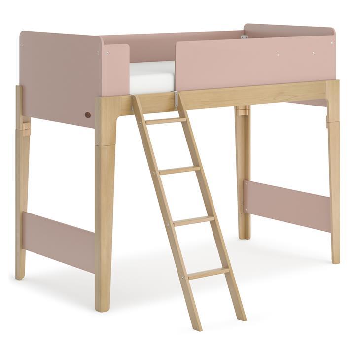 Boori Natty Wooden Loft Bed, Single, Cherry / Almond