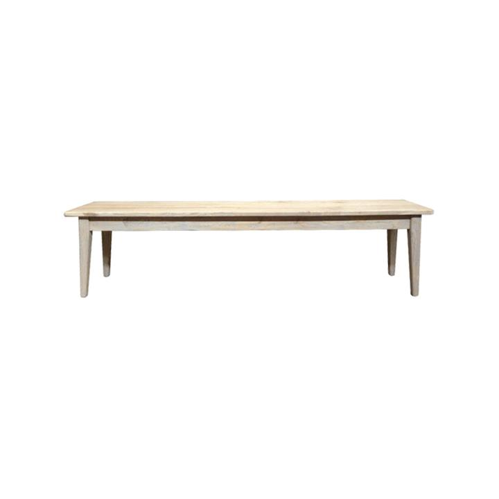 Bourdon Oak Timber Dining Bench, 180cm