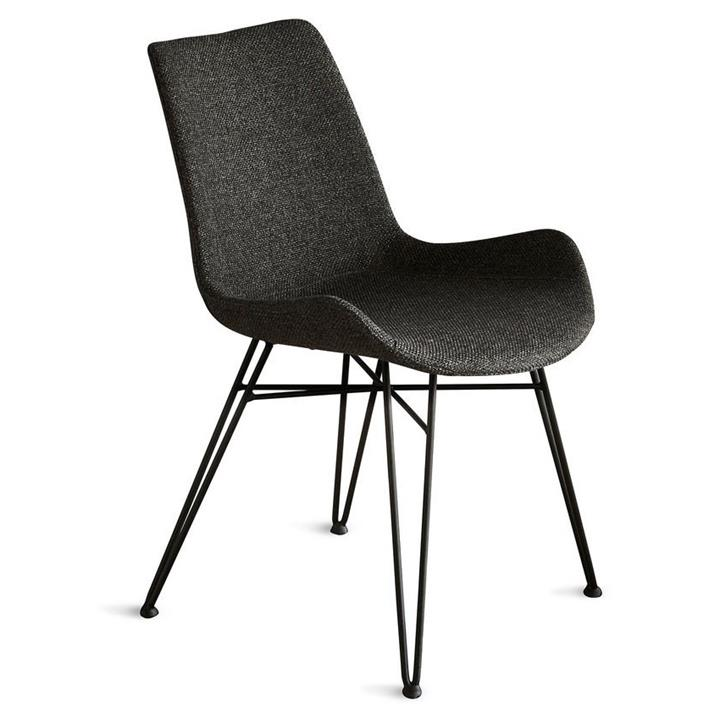 Brooklyn Fabric Dining Chair, Charcoal