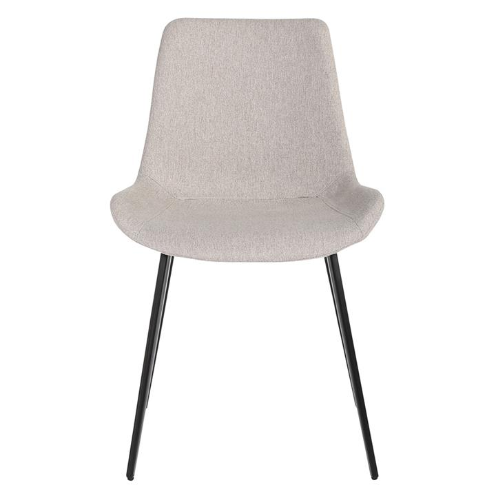 Cleo Commercial Grade Stain Resistant Waterproof Fabric Dining Chair, Light Grey