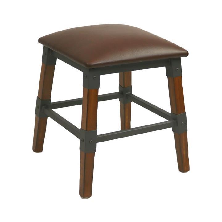 Durafurn Genoa Commercial Grade European Beech Table Stool, Vinyl Seat
