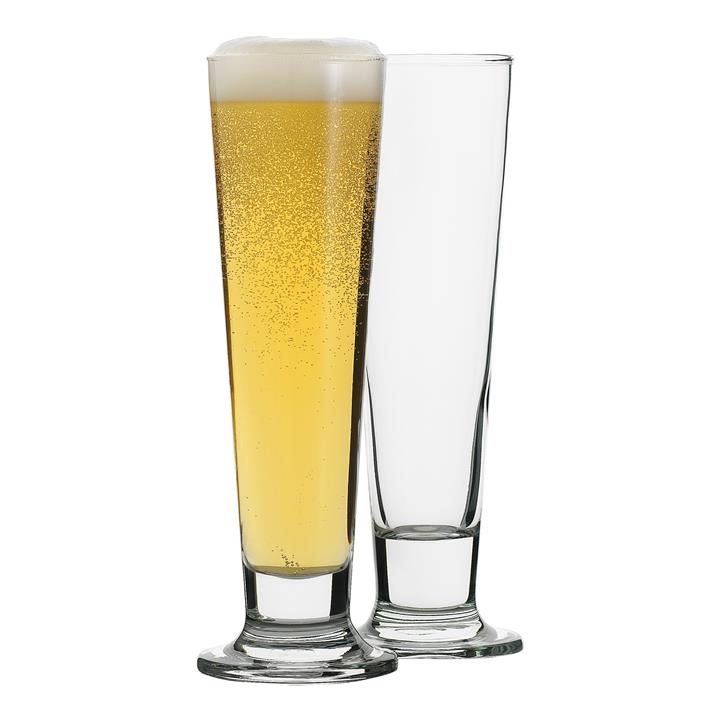 Ecology Classic Pilsner Beer Glass, Set of 4