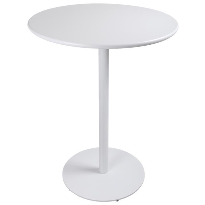 Havana Metal Outdoor Round Bar Table, 80cm, White