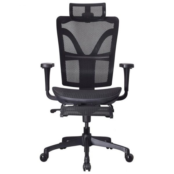 LivingStyles.com.au - Hudswell Mesh Fabric Ergonomic Executive Office Chair with Telescopic Footrest - Office Chairs