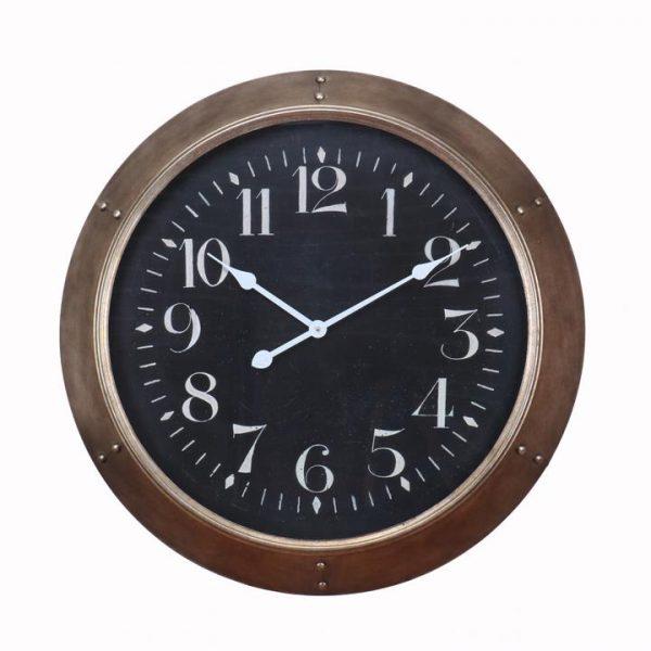 LivingStyles.com.au - Khalil Metal Frame Round Wall Clock