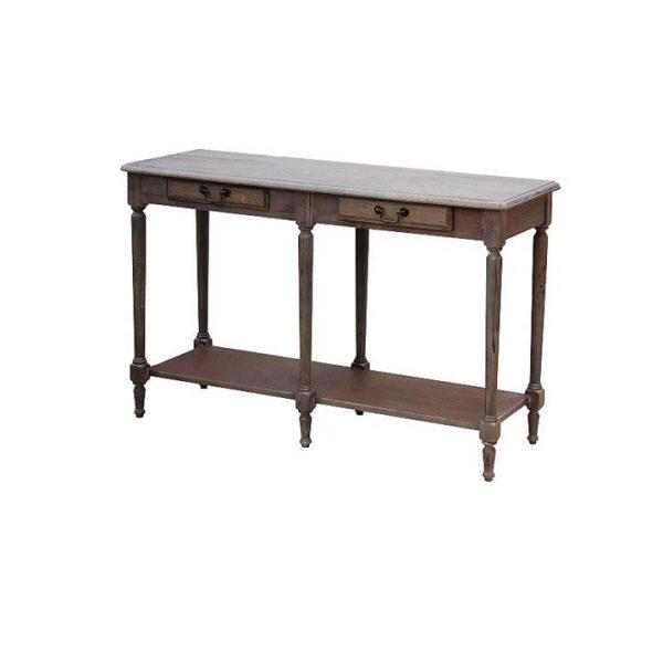 LivingStyles.com.au - Louis XVI White Wash Hallway Table - Console & Hall Tables