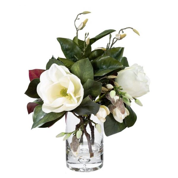 LivingStyles.com.au - Luxa Artificial Grand Magnolia Arrangement in Vase