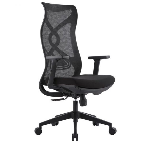 LivingStyles.com.au - Rodmond II Mesh Fabric Ergonomic Office Chair with Telescopic Footrest - Office Chairs