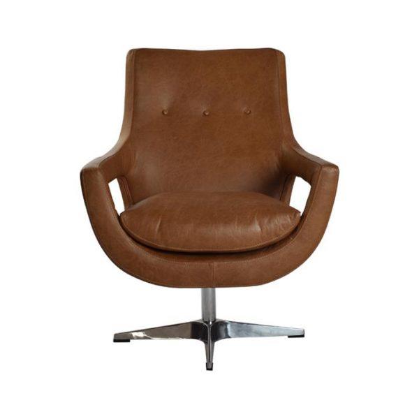 LivingStyles.com.au - Rosetta Leather Swivel Armchair - Armchairs