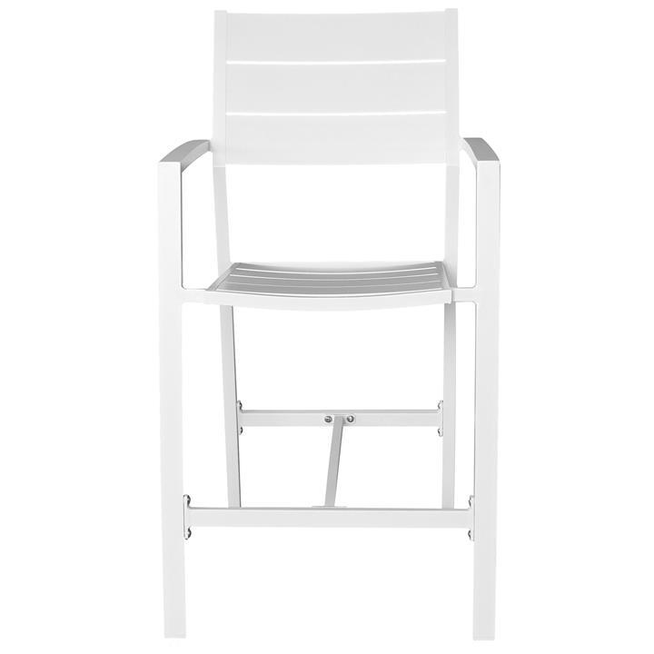 Ruby Aluminium Outdoor Bar Chair, White