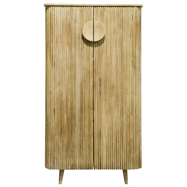 Rydge Wooden 2 Door Tall Cabinet, Natural