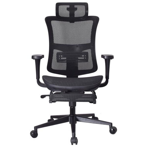 LivingStyles.com.au - Scotton Mesh Fabric Ergonomic Executive Office Chair with Telescopic Footrest - Office Chairs