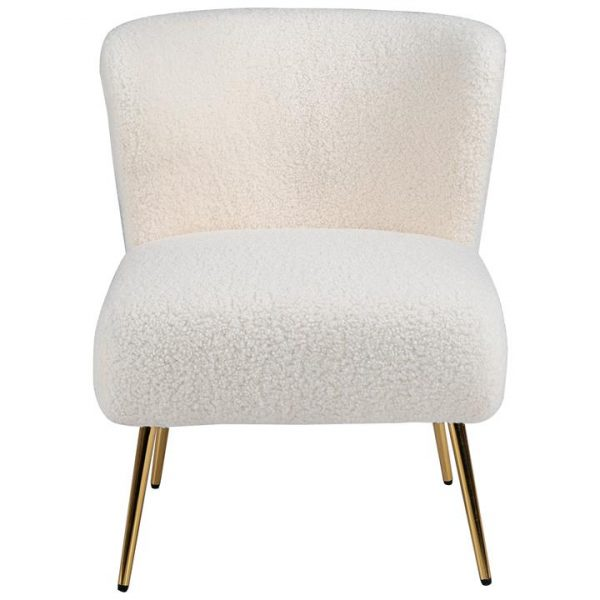 LivingStyles.com.au - Tina Faux Lambskin Lounge Chair - Armless Lounges