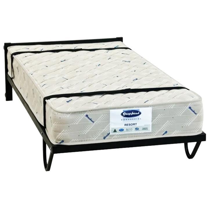 Tubeco Australian Made Commercial Grade Metal Vertical Trundle Bed, King Single, Matt Black