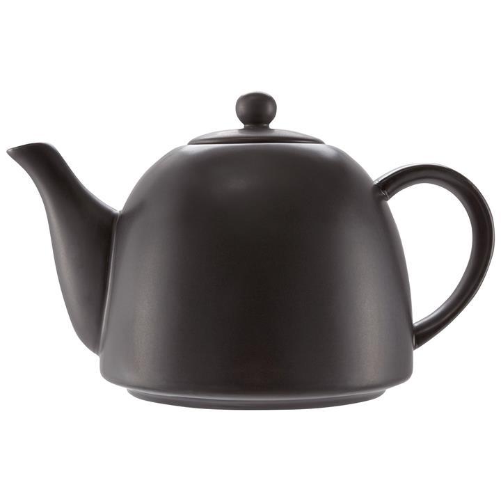 VTWonen Michallon Porcelain Teapot, Matt Black