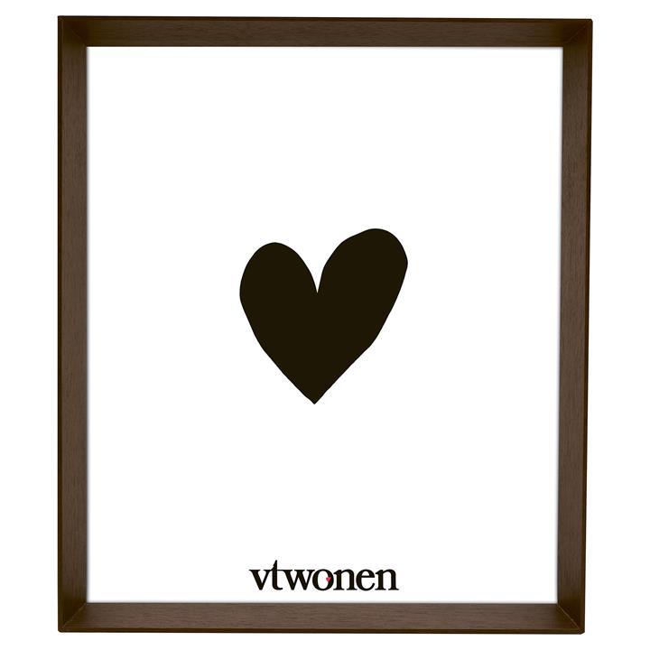 VTWonen Scarlo Wooden Photo Frame, 30x35cm, Dark Brown