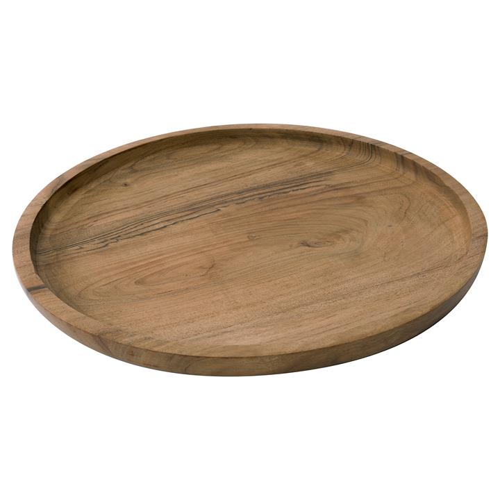 VTWonen Sida Acacia Timber Round Tray, Natural