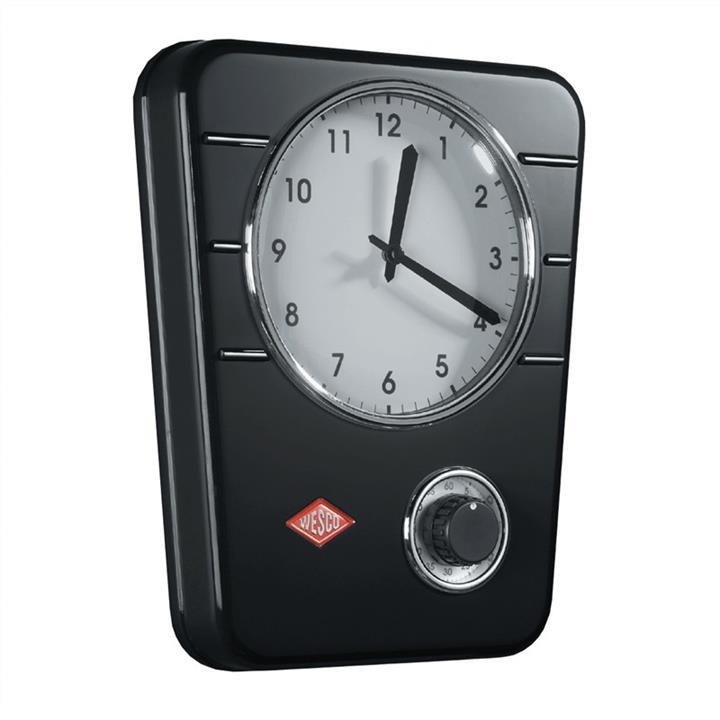 Wesco Metal Kitchen Clock – Black