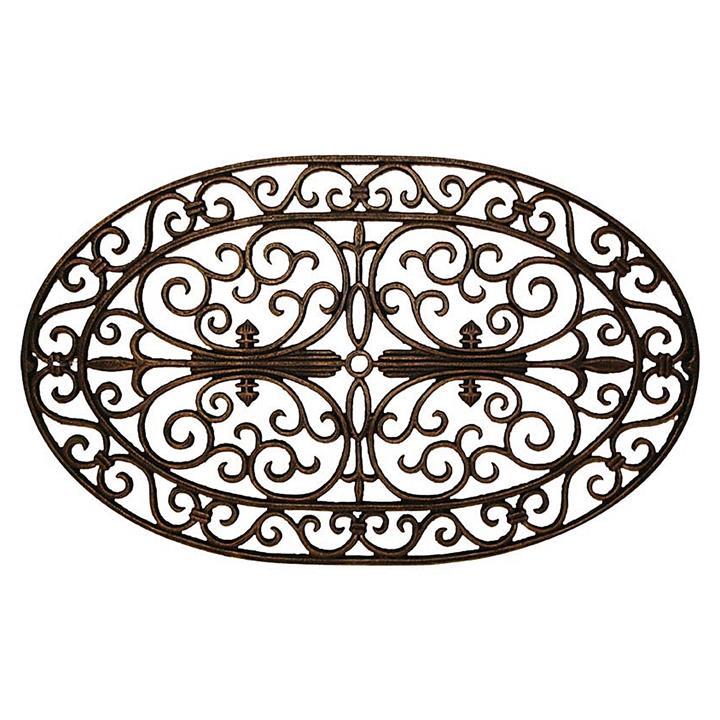 Winston Cast Iron Outdoor Oval Doormat / Wall Plaque